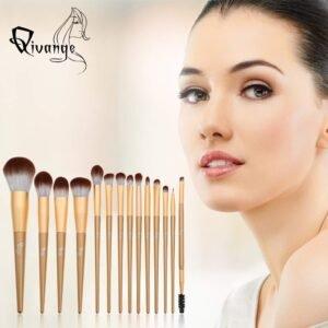 Set de 14 brochas de maquillaje QIVANGE