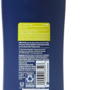 Duo Suave Men 3 in 1 Champú + Acondicionador + Body Wash, Citrus Rush, 828 ml + 89 ml