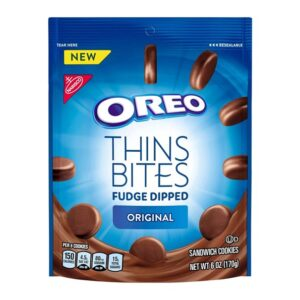 OREO Thins Bites Fudge Dipped Crema original 170 grs