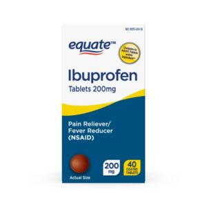 Equate Ibuprofen Tablets 200 mg, Pain Reliever/Fever Reduce 40 Tab